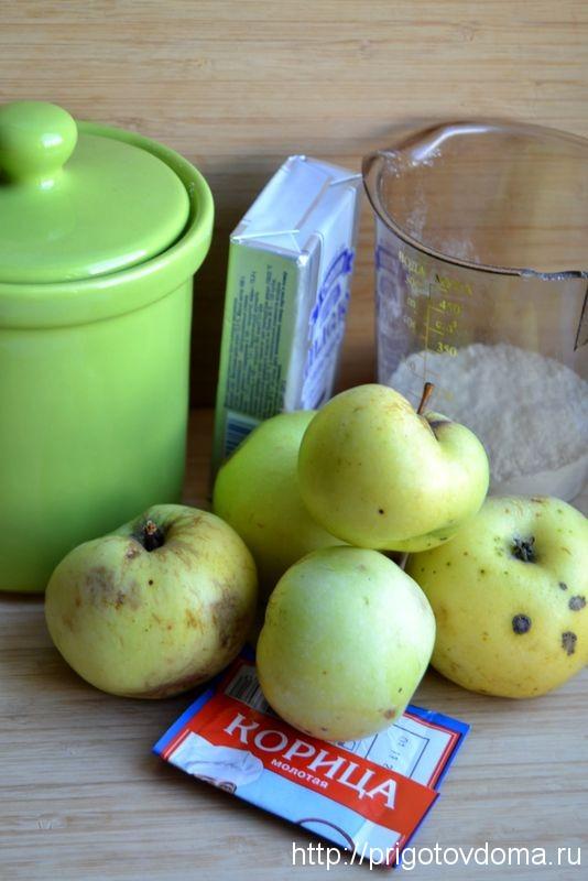 готовим яблочный крамбл