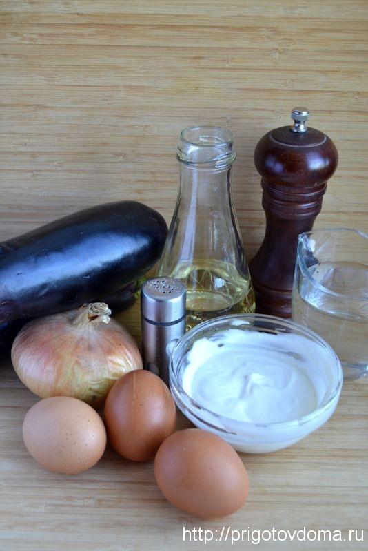 готовим салат из баклажан с яйцом и луком