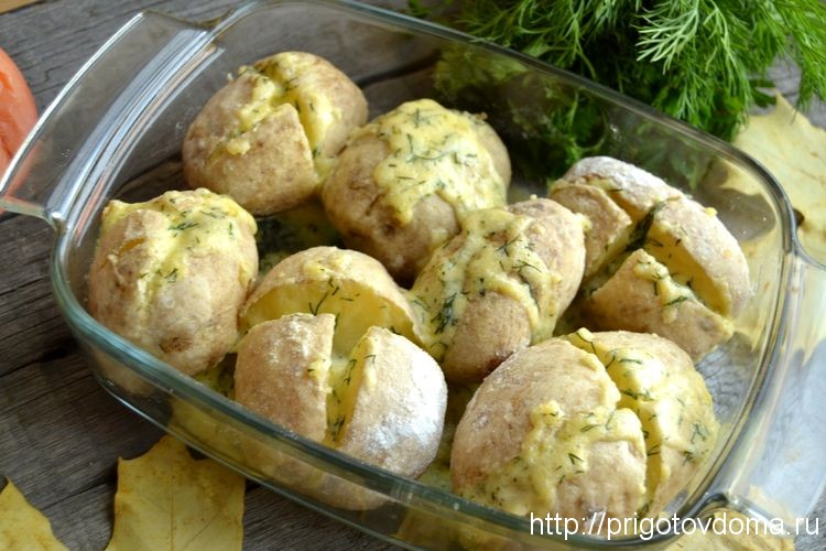 заполняем начинкой картофель