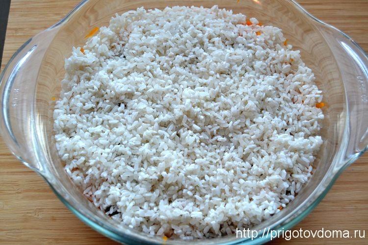 Добавляем слой риса