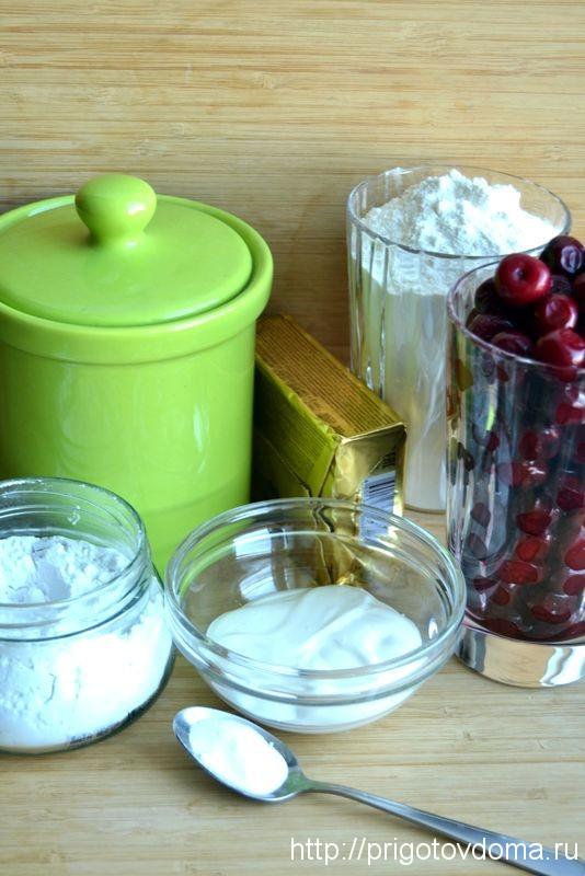 Ингредиенты вишневого пирога