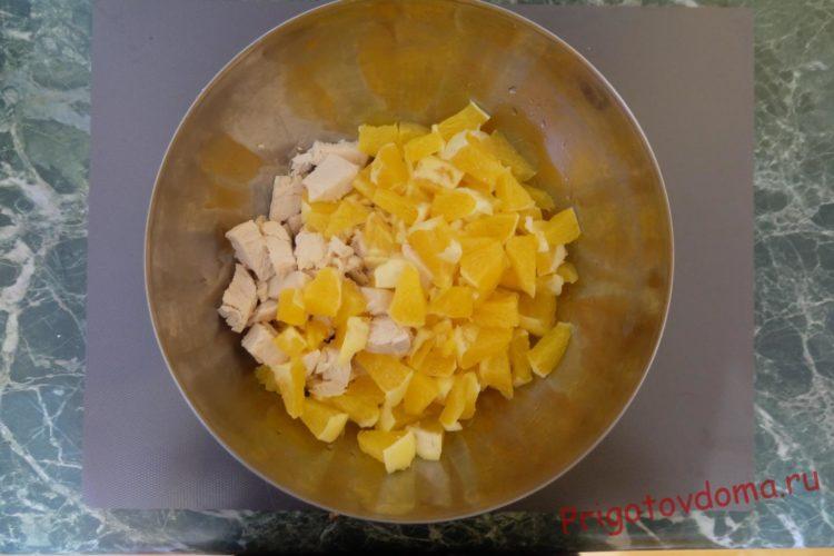 Смешиваем апельсин и курицу
