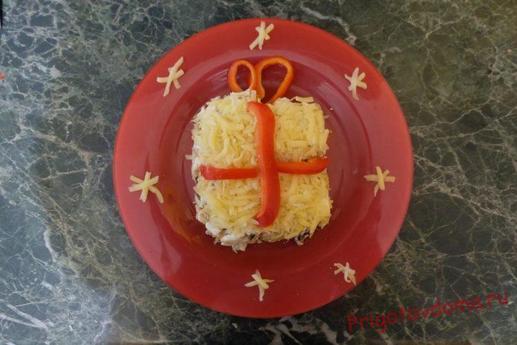 Украшаем сыром блюдо
