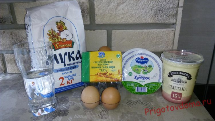 Ингредиенты для болгарской баницы с творогом