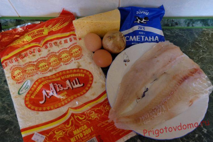 Ингредиенты для филе минтая, запеченного в духовке