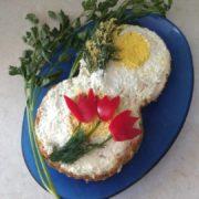 Салат «Нежный» к Международному женскому дню – 8 марта