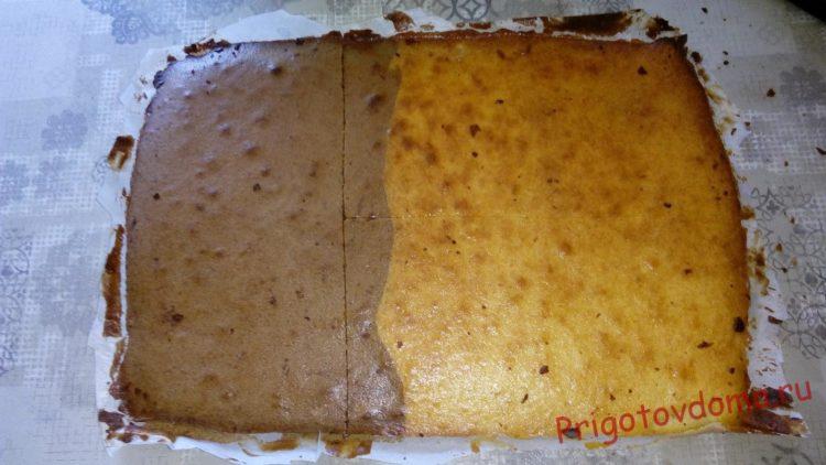 Бисквитный торт со сметанно-черничной пропиткой «Летний привет»