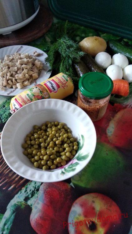 Салат «Оливье » (французский рецепт)