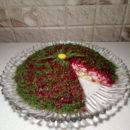Салат с сельдью в разрезе